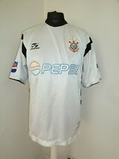 CORINTHIANS PAULISTA football Topper  vintage 2002 home jersey Large