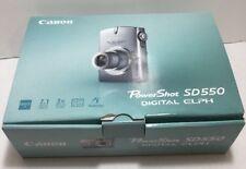 Canon Powershot SD550 Digital Elph 7.1 MP Camera Boxed