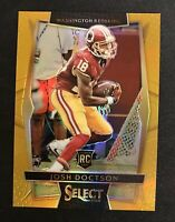 2016 JOSH DOCTSON PANINI SELECT GOLD REFRACTOR 2/10 ROOKIE RC REDSKINS #64