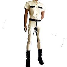 Navy Uniform Latex Pure Rubber Man T-shirt and Trousers Pants Suit Size XXS~XXL