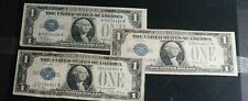 Lot of 3 Series 1928 One Dollar Silver Certificate $1 Funny Back Notes