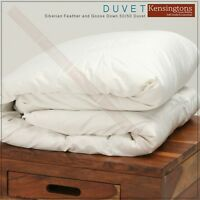 New Luxury Siberian Goose Feather and Down Duvet All Sizes & All Togs Available