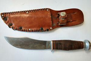 "Vintage ""KINFOLKS"" 5 inch blade Hunting Knife with Sheath"