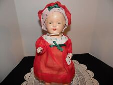 Vintage Antique composition stuffed Patsy Doll clone by Perfect toy Company