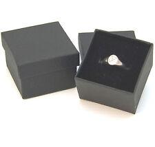 JOB LOT - 96 BLACK CARDBOARD RING BOXES WITH FOAM BACKED VELVET INSERTS £0.49 ea