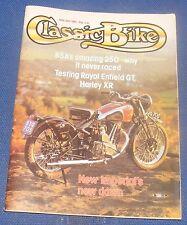 CLASSIC BIKE APRIL/MAY 1980 - TESTING ROYAL ENFIELD GT/HARLEY XR