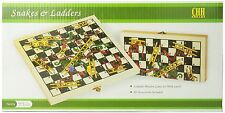 Recreational Wooden Snakes Ladders Folding Game with Pair of Dice NEW, Free Ship