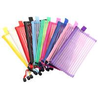 Crayon à zipper Réseau transparent Stockage de produits cosmétiques Pencil