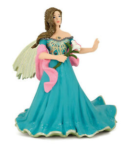 NEW PAPO 38813 Blue Elf with Lily 10cm Tall - Fantasy - RETIRED