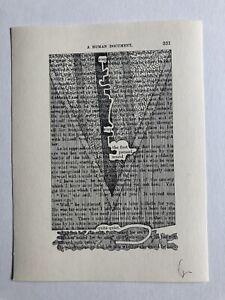 TOM PHILLIPS RA Ltd Ed SCREENPRINT A Humument no 331 'Quite Quiet' 9/100