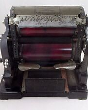 Antique Gestetner Cyclostyle Copy Copying Mimeograph Machine & Case Steampunk