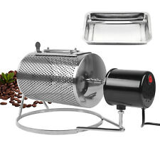 Coffee Bean Drum Roaster Stainless Steel Low Noise Home Cafe Espresso making