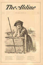 Whittier's Maud Muller, by George A. Davis, Poem, Vintage 1872 Antique Art Print