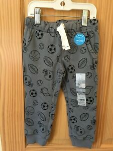NWT Carter's Boys Pull on Pants Sweatpants Gray Sport Toddler