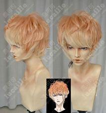 Diabolik Lovers Sakamaki Shu Hell Orange Gradient Gelock Kurz Cosplay Party-Wig