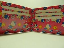 Duct Tape Wallet PINK WITH SUNSHINE AND PEACE HELLO KITTY ALL OVER IT  Handmade