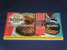 THE GEORGE FOREMAN Lean Mean Fat Reducing Grilling Machine & Roasting COOKBOOK