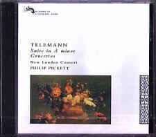 TELEMANN Recorder Concerto PHILIP PICKETT New London Consort CD L'Oiseau-Lyre 92