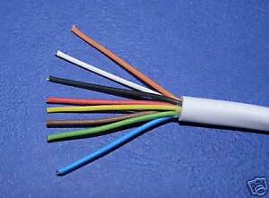 --- Alarm Cable Unscreened White  8 core x 7/0.19 ----- 3 Metres long