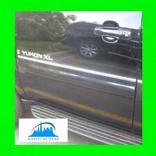 2007-2014 GMC YUKON / YUKON XL CHROME SIDE DOOR TRIM MOLDINGS 4PC W/5YR WRNTY