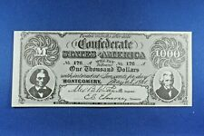 1962 Topps - Civil War News Currency - $1,000 - Serial #176 - ExMt Condition