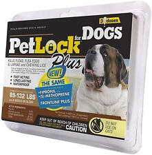 PETLOCK PLUS FLEA & TICK SPOT ON DOG 89-132LB 3 PACK FIPRONIL. FREE SHIP TO USA