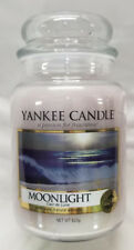 Yankee Candle MOONLIGHT Large Jar 22 Oz Gray White Housewarmer New Wax