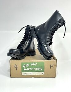 Getta Grip Black Boots Vintage.New. Made in England 4UK 37EUR