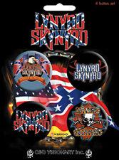 Official Lynyrd Skynrd - Logos - 4 x 36mm Badge Pack