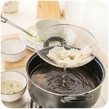 Stainless Steel Fine Mesh Oval Skimmer Strainer Ladle New Kitchen Tools Hot