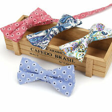 Lot 4 Packs Men's Bow Tie Adjustable 100% Cotton Bowtie Vintage Floral Butterfly