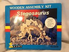 Vintage 1986 Stegosaurus Dinosaur Wooden Assembly Kit By Battat Unused