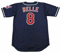 ALBERT BELLE Cleveland Indians 1995 Majestic Throwback Alternate Baseball Jersey