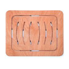 Pedana doccia antiscivolo per piatti 55x68 legno marino okumè design ultra slim