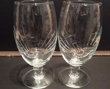 STELLA ARTOIS PINT CHALICE GLASSES x2 FANFARE DESIGN CE MARKED NEW AND UNUSED