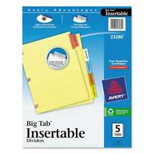 Avery Insertable Big Tab Dividers 5 Tab Letter 072782232801