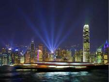 HONG KONG HARBOUR LIGHTS CITYSCAPE PHOTO ART PRINT POSTER PICTURE BMP1186B