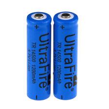 UltraFire 14500 1200mAh 3.7V Rechargeable Li-ion Battery-Blue(2PCS)