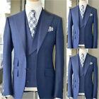 New Latest Design Light Blue Men Suit Slim Fit 3Piece Tuxedo Wedding Groom Suit