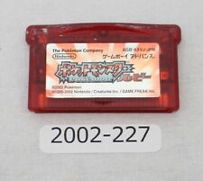 Nintendo Gameboy Advance POKEMON RUBY Pocket monsters Working 2002-227