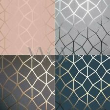Fine Decor Platinum Geometrisch Luxus Metallisch Dreieckig Spalier Tapete