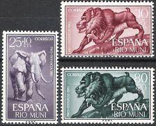 Colonias españolas Rio Muni 1961 Bienestar Infantil Elefante babuino estampillada sin montar o nunca montada Fina 18 - 20