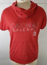 Soft As A Grape Womens Medium St Louis Cardinals Red Top MLB Cowl Neck Knit Top