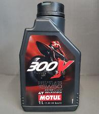1 x Motul 300V 4T 15W50 L'HUILE DE MOTEUR motorradöl 1 Litre ROAD RACING #