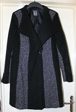 Atmosphere Black Coat Smart Soft Feel Wool Mix Size 14
