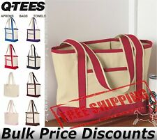 Q-Tees 20Lt Small Canvas Deluxe Tote Shopping Bag Q125800 18x12x5