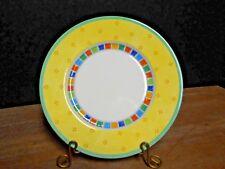 "Bread Plate 7"" Twist Alea Limone Yellow Rim Block Inner Band Villeroy & Boch"