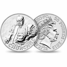 2015 Sir Winston Churchill UK £20 1/2 oz Fine Silver Coin