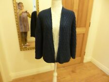 Women's Hand Knitted Wool Cardigan Royal Blue with Sparkle Chest 42 ins
