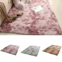 Fluffy Rugs Anti-Skid Shaggy Area Rug Dining Room Carpet Floor Mat Home Bed Top